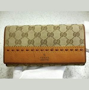 Auth Gucci long wallet rare